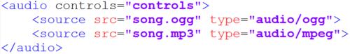 вставка аудио в html