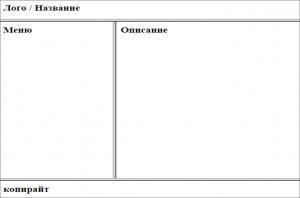 фреймовая структура сайта с нуля