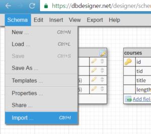 Онлайн визуализации схемы базы данных