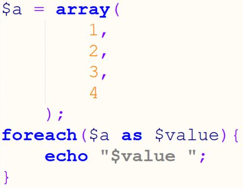цикл foreach php