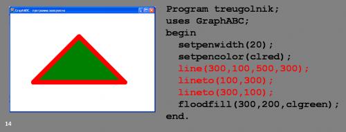 треугольник в паскале