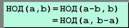 Алгоритм Евклида для НОД