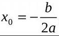 вершина параболы