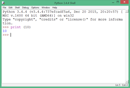 IDLE python 3.4
