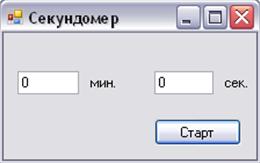vb 2008 секундомер