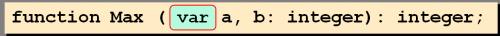 параметры-переменные в паскале