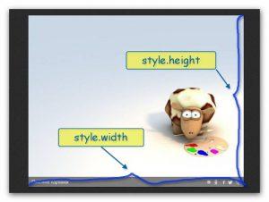 Свойства высота и ширина объекта в javaScript