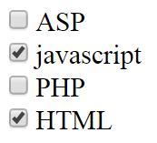 html флажок