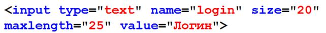 Текстовое поле html
