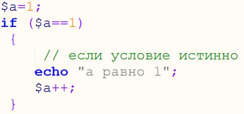 короткий вариант условного оператора php