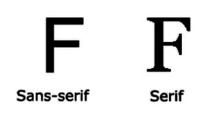 шрифт с засечками и без засечек