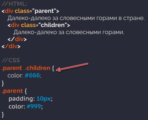 Каскадироание в CSS