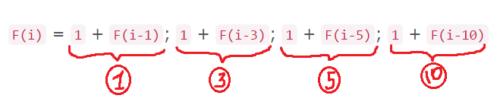 Нахождение общей формулы для задачи о сдаче