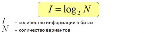 Формула Хартли, задание 10 ЕГЭ