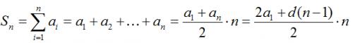 суммы первых членов арифметической прогрессии